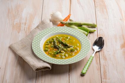 Chřestová polévka ze zeleného chřestu