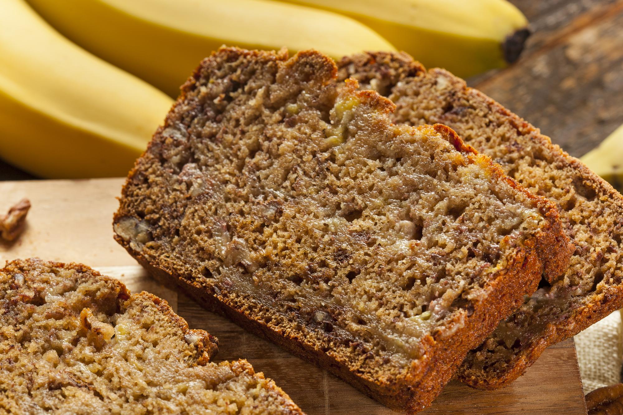 Banánový chlebíček s tvarohem