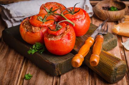 Plněná rajčata mletým masem