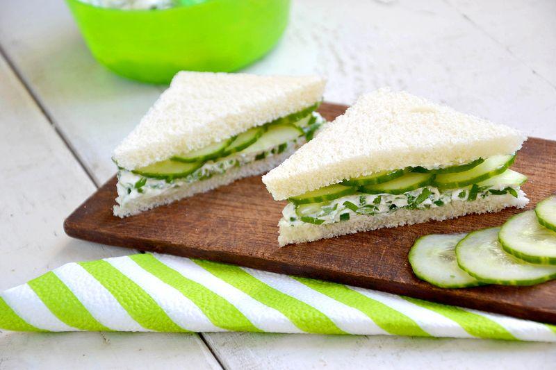 Okurkový sendvič