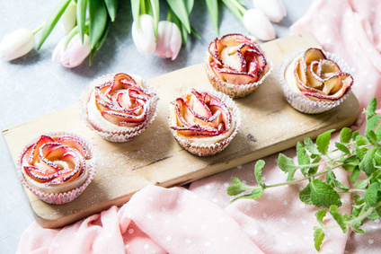 Jablkové růžičky