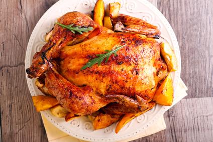 Pečené kuře na zelenině