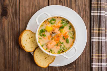 Krémová rybí polévka