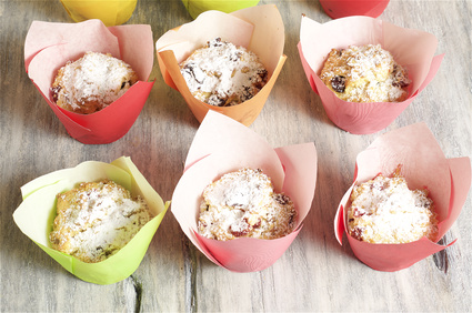 Tvarohové muffiny s rozinkami