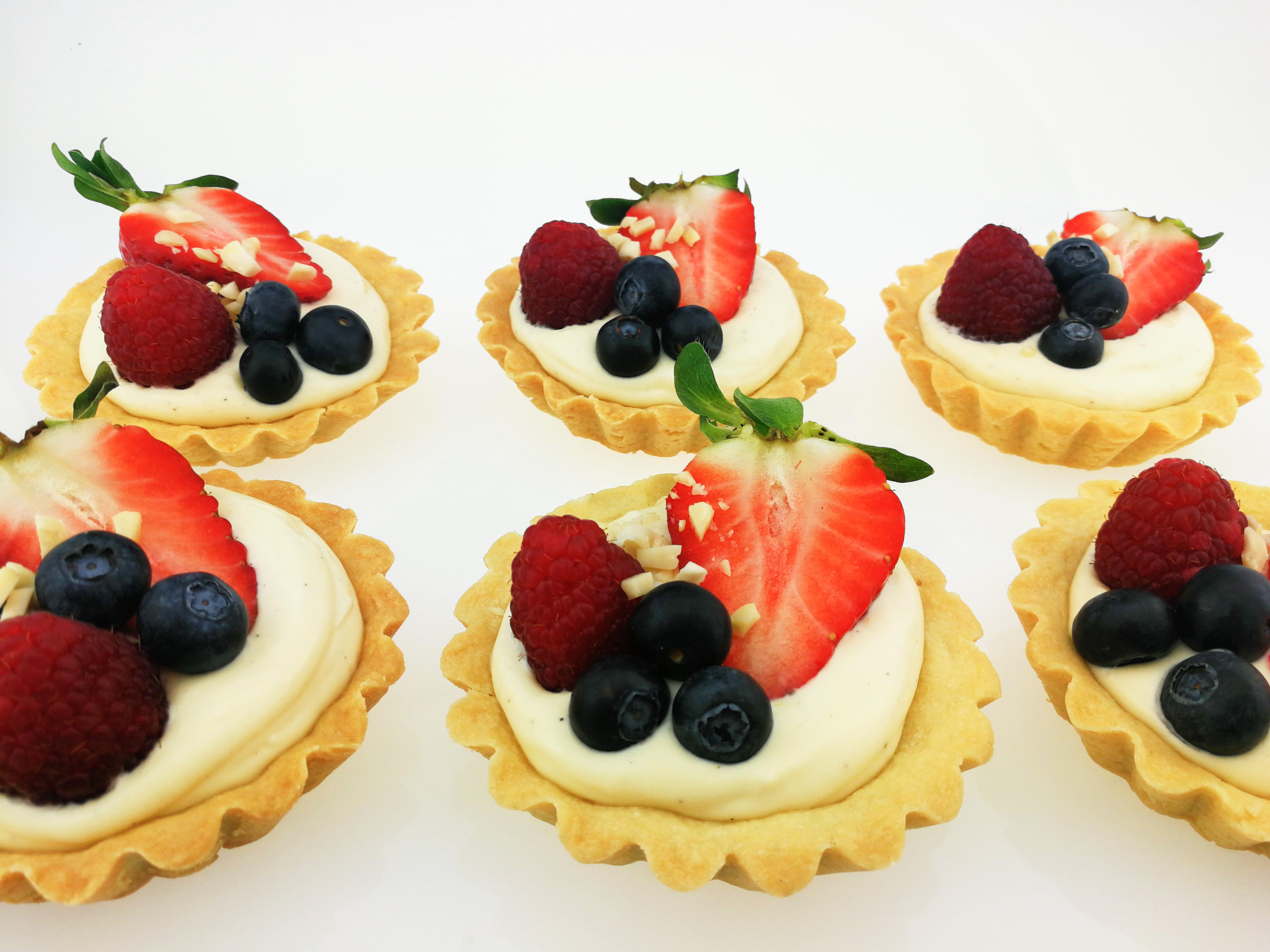 Tartaletky s mascarpone a ovocem