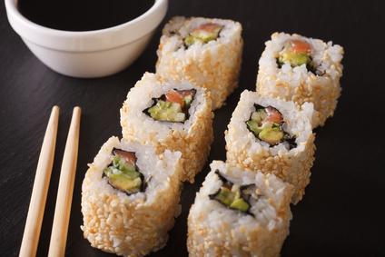 Sushi California rolls (kalifornské rolky)