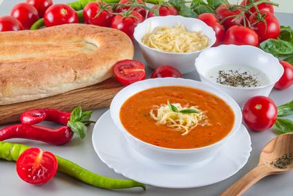 Italská rajčatová polévka