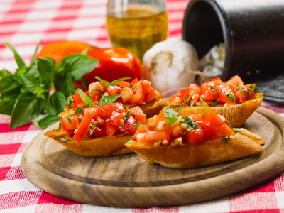 Bruschetta s rajčaty [brusketa]