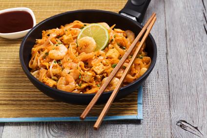 Pad Thai nudle s krevetami