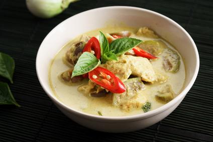 Thajská polévka s kokosovým mlékem