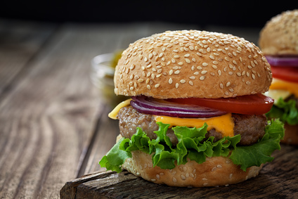 Domácí hovězí hamburger