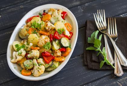Obědový květákový salát