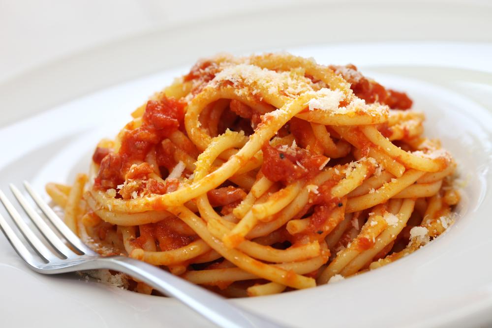 Špagety amatriciana
