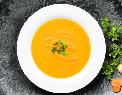Polévka zpečené mrkve