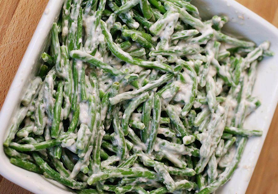 Zelené fazolové lusky na smetaně