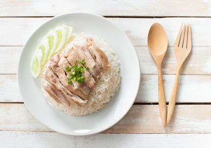 Kuřecí prsa s rýží v parním hrnci